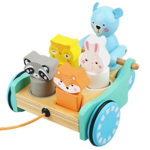 Wooden Toy Cars Pull Along Toy