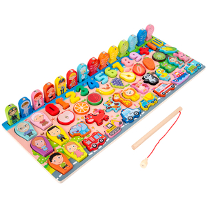 Wooden Alphabet Letter Fishing Game Toys