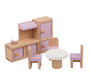Wooden Doll House Miniature Furniture