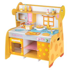Cartoon giraffe Wooden Kitchen Set Toy