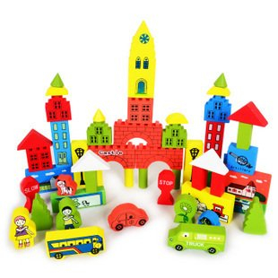 Wooden Block Sets, Wooden Educational Toys