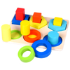 Wooden Educational Toys Preschool Teaching Game Geometric Shapes Puzzle