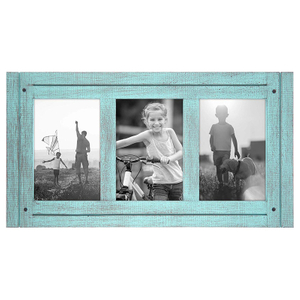 Blue Rustic 4x6 Wooden Photo Frames