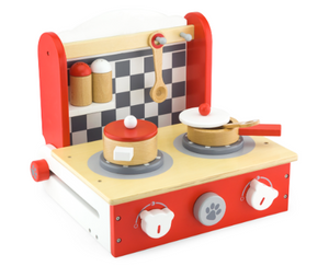 wooden play set kitchen toy