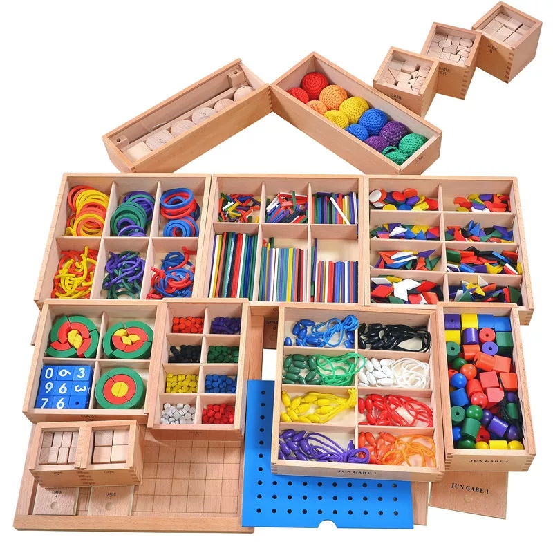 Montessori Materials 15 in 1 Games Wooden Puzzle