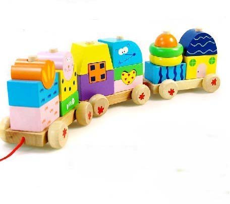 Wood Assembled Three Train Toys