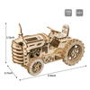 Wooden Legno Tractor Puzzle Toys