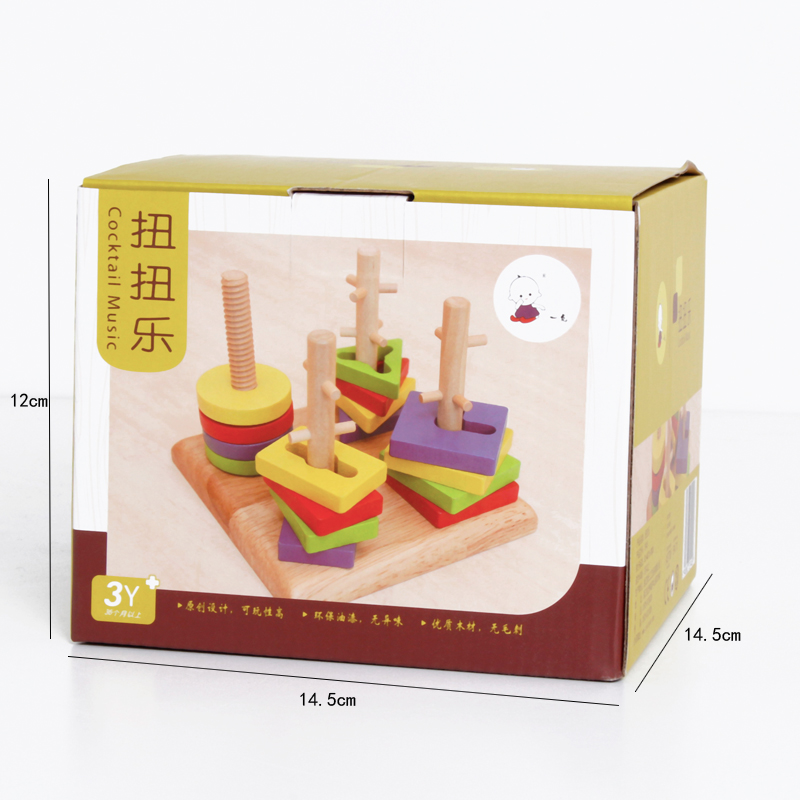 wooden shapes color block toys