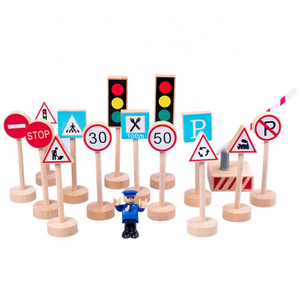 Wooden Road Traffic Signs Toy
