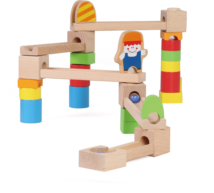 Kids Educational Wooden Gate Ball Toy