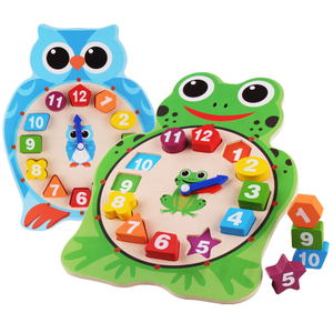 Education Wooden Clock Cognitive Toys
