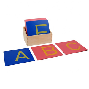 Montessori capital case sandpaper letters