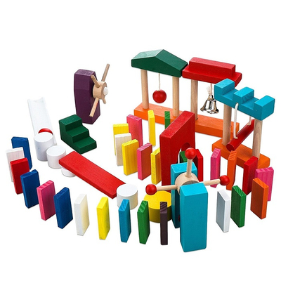 blocks baby wooden domino