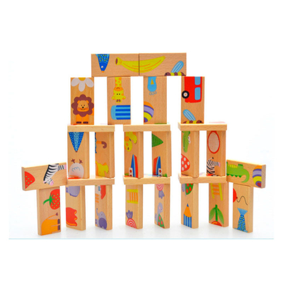 Children Wooden Domino Educational Toys