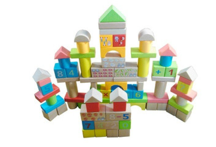 100PCS Wooden Blocks