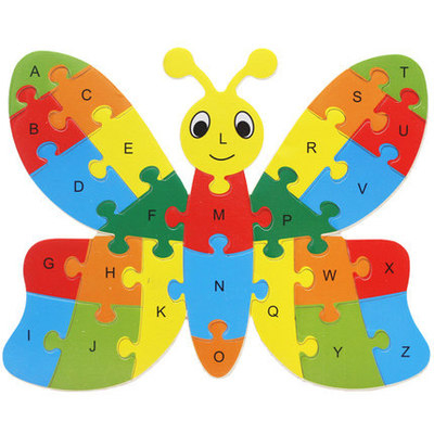 Wooden Animal Alphabet Jigsaw Puzzle