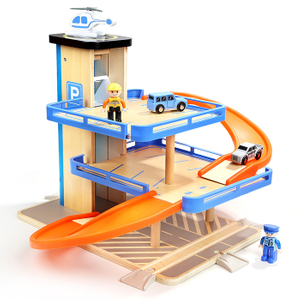 Kids Wooden Parking Garage Toy