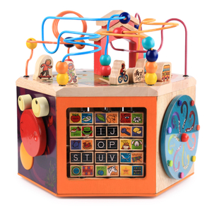 Wooden Activity Cube Baby Toys