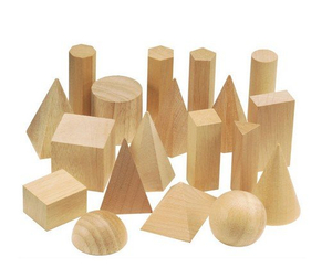Wooden Geometric Solids, High Quality Math Wooden Toys, Hot Sale Geometric Blocks Shape Wooden Toys