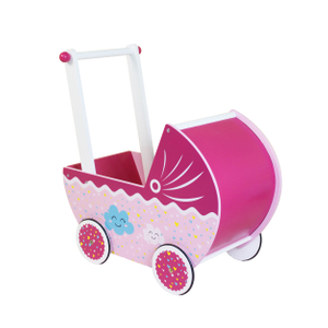 Children Wooden Doll Pram