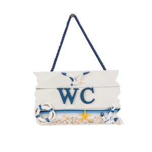 Wooden WC Wall Hanging Sign Board