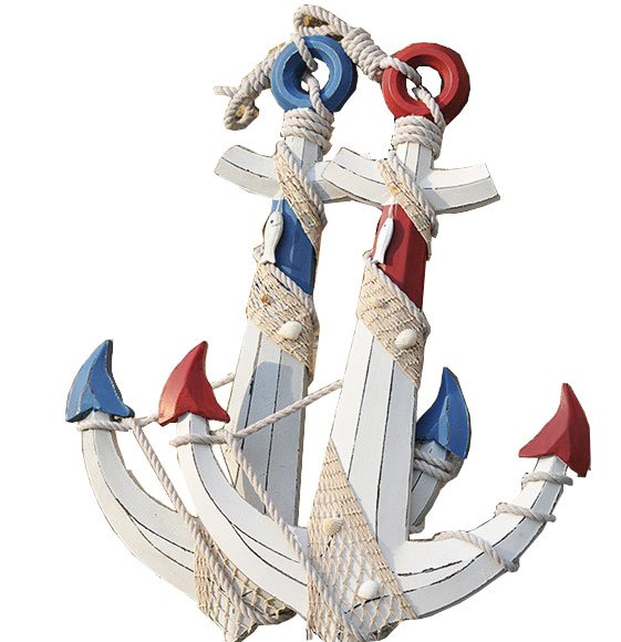 Craft Wooden Anchor, Decoration Wooden Anchor