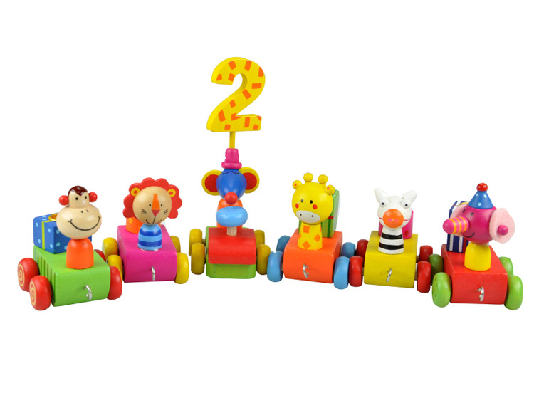 Birthday candle train toy for children