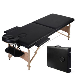 Portable wooden massage table folding bed