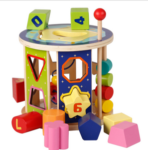 Wooden Shape Sorter Cognitive Montessori toy