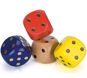 custom colorful wooden dice