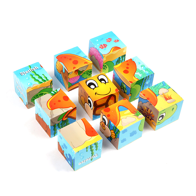 Wooden Toy Building Blocks 3d Puzzle