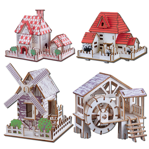 Wooden Cartoon 3d Puzzle Model