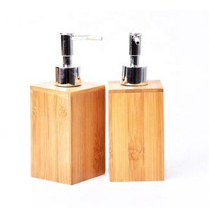 Bamboo Liquid Soap Dispenser Tissue Box