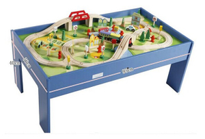 Wooden Train Table Toys