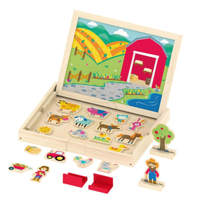 wooden magnetic farm toys