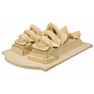 3D Wooden Construction Puzzle Toy for Children