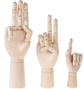Wood Articulated Manikin Hand