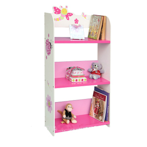 wooden children kids book shelf